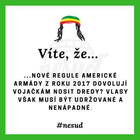 Víte že dredy... – Nesuď.cz